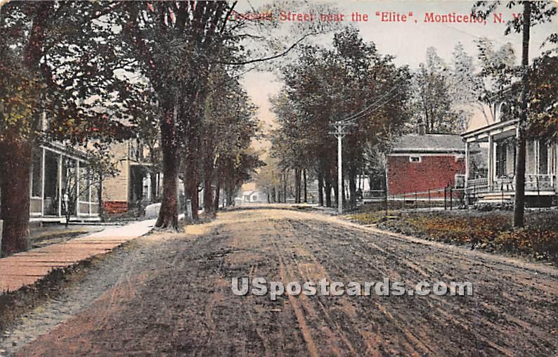 Peasant Street - Monticello, New York NY Postcard