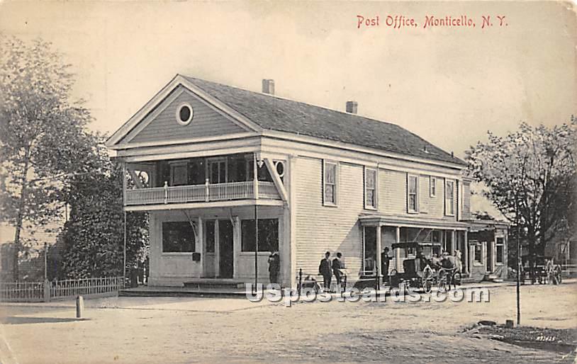 Post Office - Monticello, New York NY Postcard