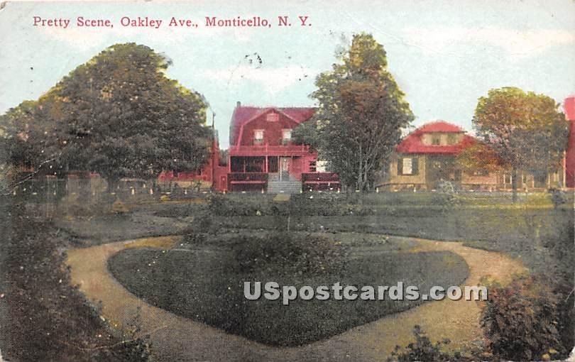 Pretty Scene - Monticello, New York NY Postcard