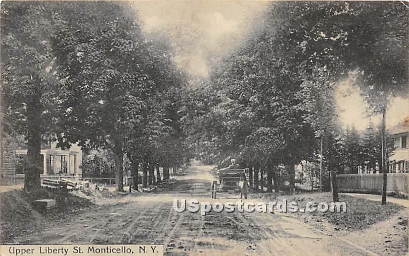 Upper Liberty Street - Monticello, New York NY Postcard
