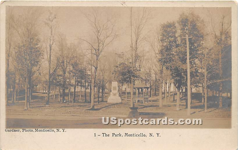 The Park - Monticello, New York NY Postcard