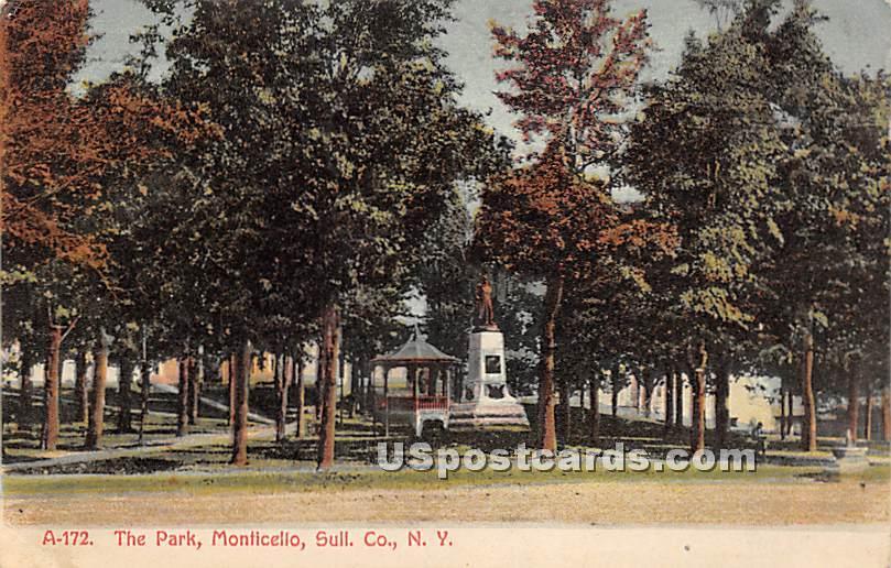 The Park - Monticello, New York NY Postcard