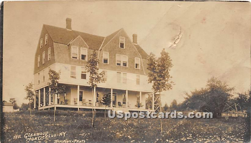 The Glenwood - Monticello, New York NY Postcard
