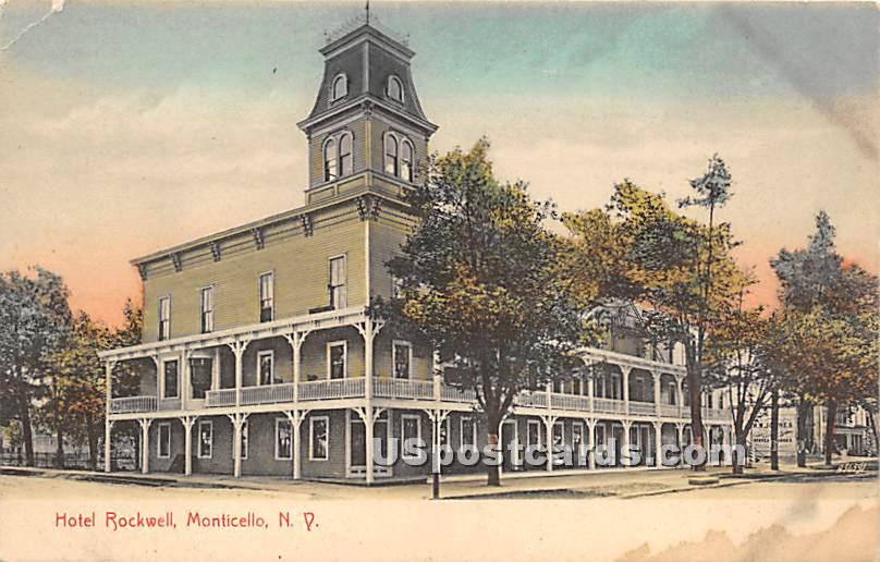 Hotel Rockwell - Monticello, New York NY Postcard