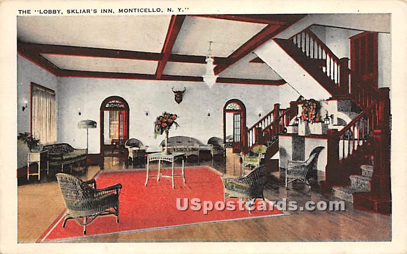 The Lobby - Monticello, New York NY Postcard