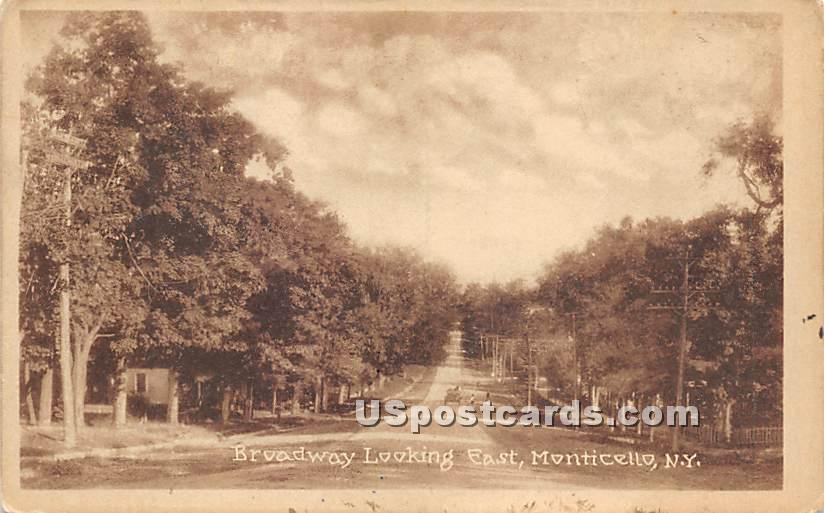Broadway - Monticello, New York NY Postcard