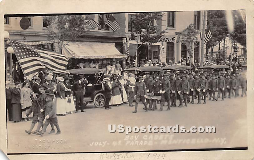 Boy Cadets - Monticello, New York NY Postcard