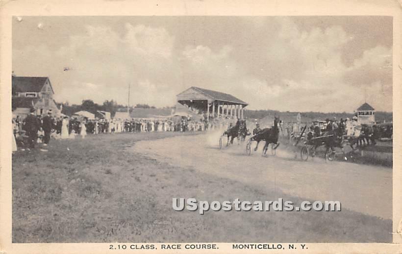 2.10 Class Race Course - Monticello, New York NY Postcard