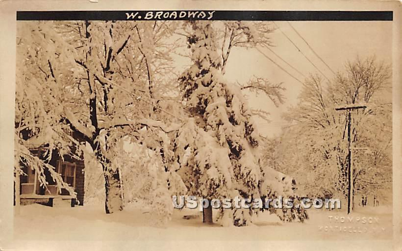 West Broadway - Monticello, New York NY Postcard
