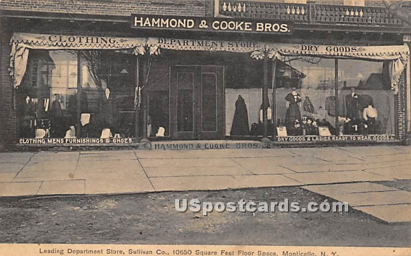 Leading Department Store - Monticello, New York NY Postcard