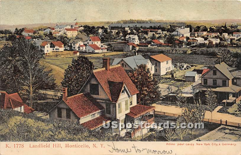 Landfield Hill - Monticello, New York NY Postcard