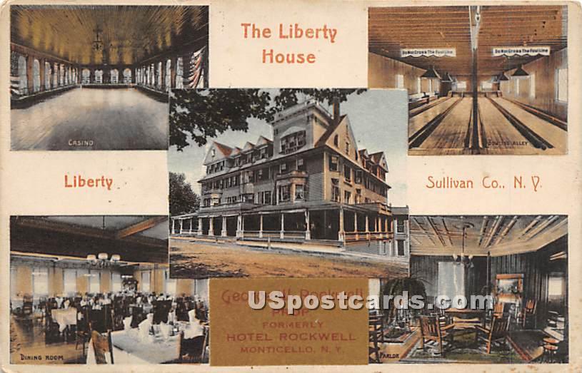 The Liberty House - Monticello, New York NY Postcard