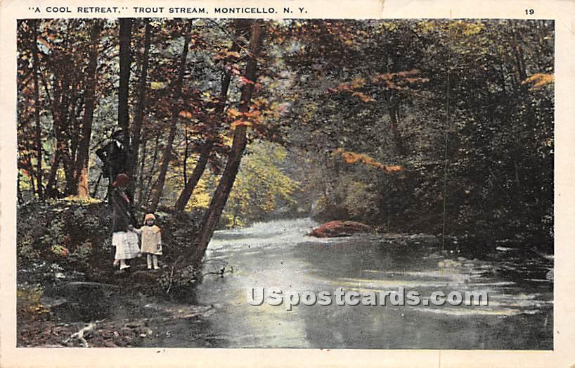 Cool Retreat - Monticello, New York NY Postcard