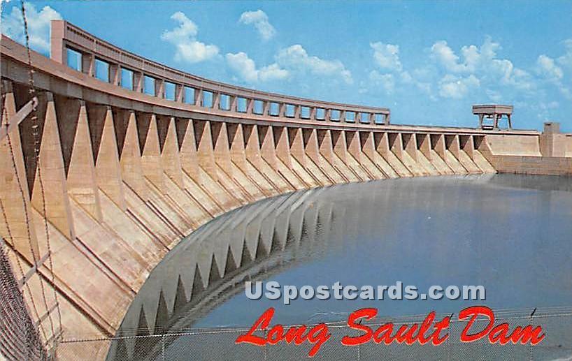 Long Sault Control Dam - Massena, New York NY Postcard