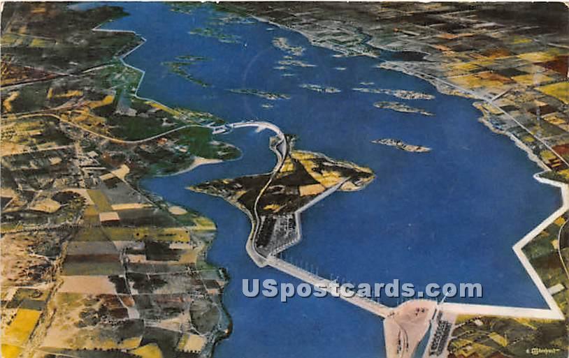 Billion Dollar St Lawrence River Seaway Power Project - Malone, New York NY Postcard