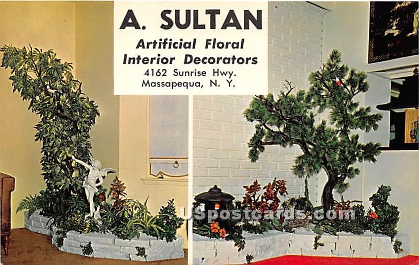 A Sultan Artificial Floral Interior Decorators - Massapequa, New York NY Postcard