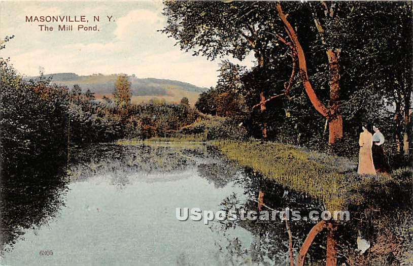 The Mill Pond - Masonville, New York NY Postcard