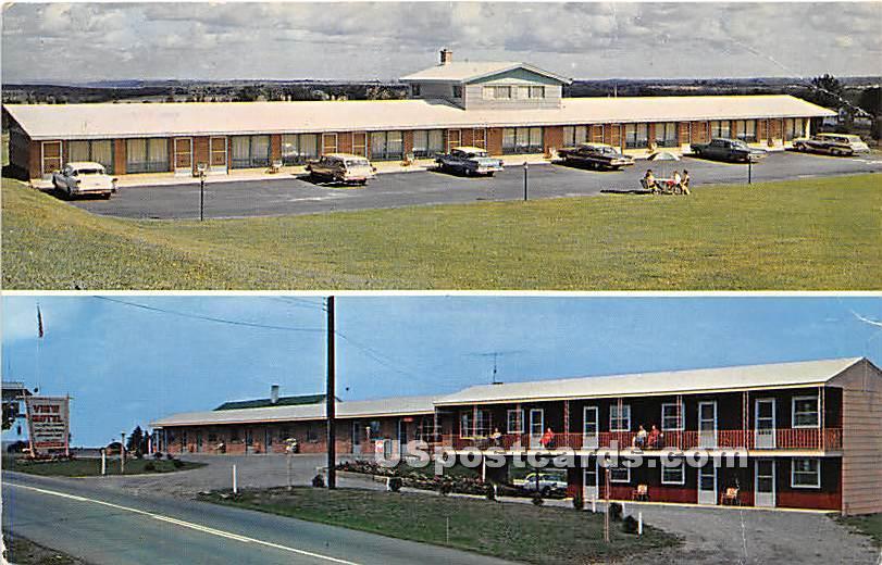 View Motel - Malone, New York NY Postcard