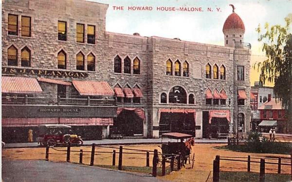 The Howard House Malone, New York Postcard