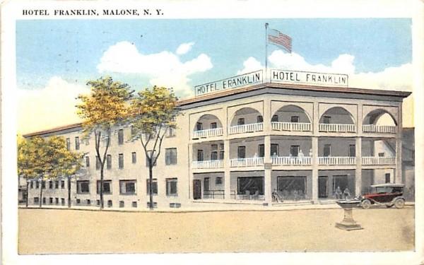 Hotel Franklin Malone, New York Postcard