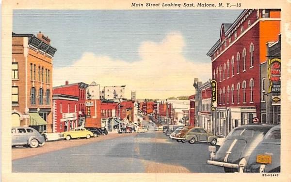Main St Malone, New York Postcard