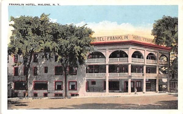 Franklin Hotel Malone, New York Postcard