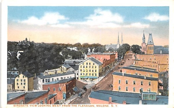 West from the Flanagan Malone, New York Postcard