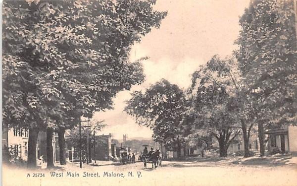 West Main Street Malone, New York Postcard