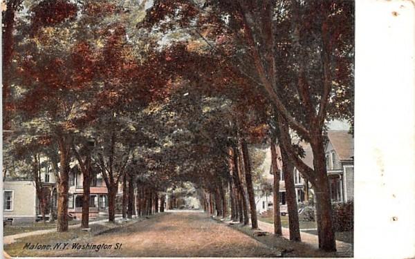 Washington Street Malone, New York Postcard