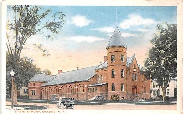 State Armory Malone, New York Postcard