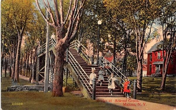 Bridge at Arsenal Green Malone, New York Postcard