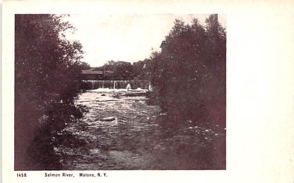 Salmon River Malone, New York Postcard