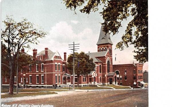 Franklin County Building Malone, New York Postcard