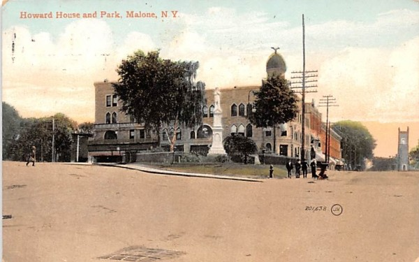 Howard House & Park Malone, New York Postcard