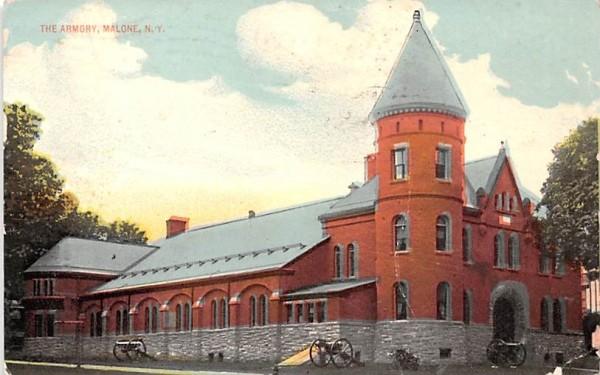 The Armory Malone, New York Postcard
