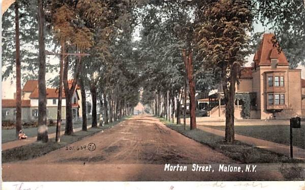 Morton Street Malone, New York Postcard