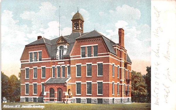 Franklin Academy Malone, New York Postcard