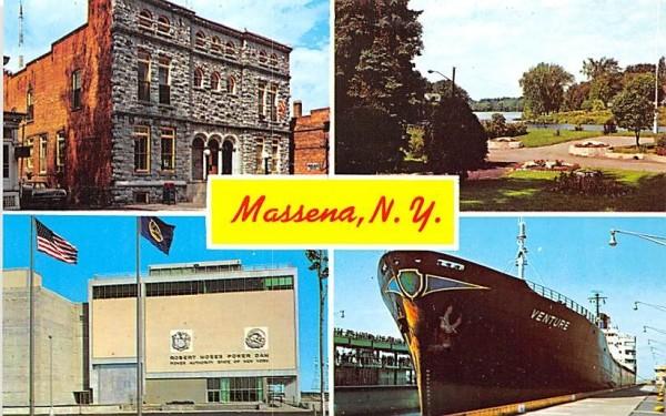New York Ontario Power Dam Postcard