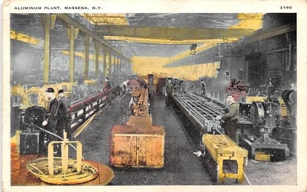 Aluminum Plant Massena, New York Postcard