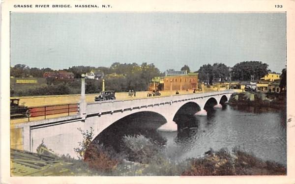 Grasse River Bridge Massena, New York Postcard