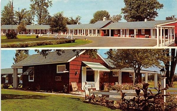 Stories Village Motel Massena, New York Postcard