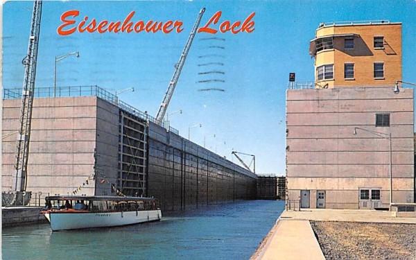 Eisenhower Lock Massena, New York Postcard