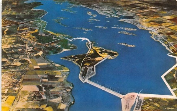 Billion Dollar St Lawrence River Seaway & Power Project Massena, New York Postcard