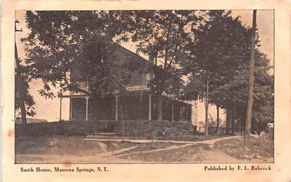 Smith House Massena, New York Postcard