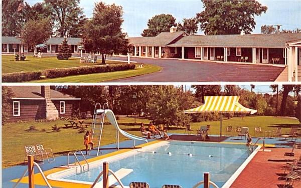 Village Motel Massena, New York Postcard
