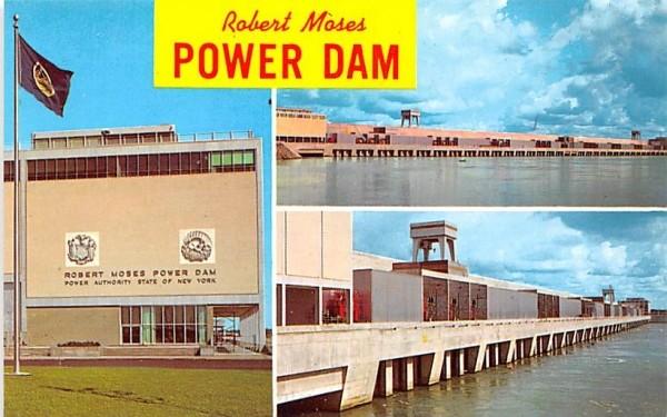 Robert Moses Power Dam Massena, New York Postcard