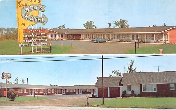 Bob's Motel Massena, New York Postcard