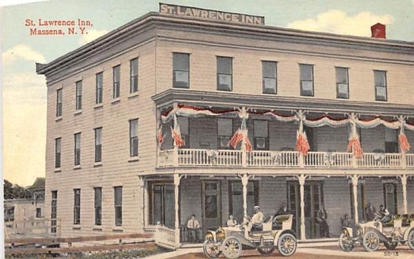 St Lawrence Inn Massena, New York Postcard