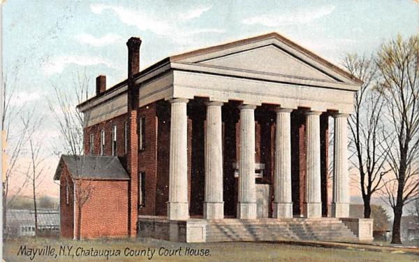 Catauqua County Court House Mayville, New York Postcard