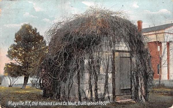 Old Holland Land Co Vault Mayville, New York Postcard